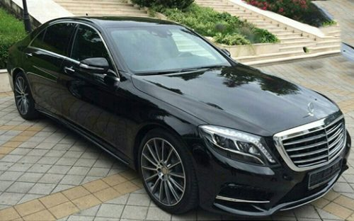 Мерседес S-class W222 чёрный